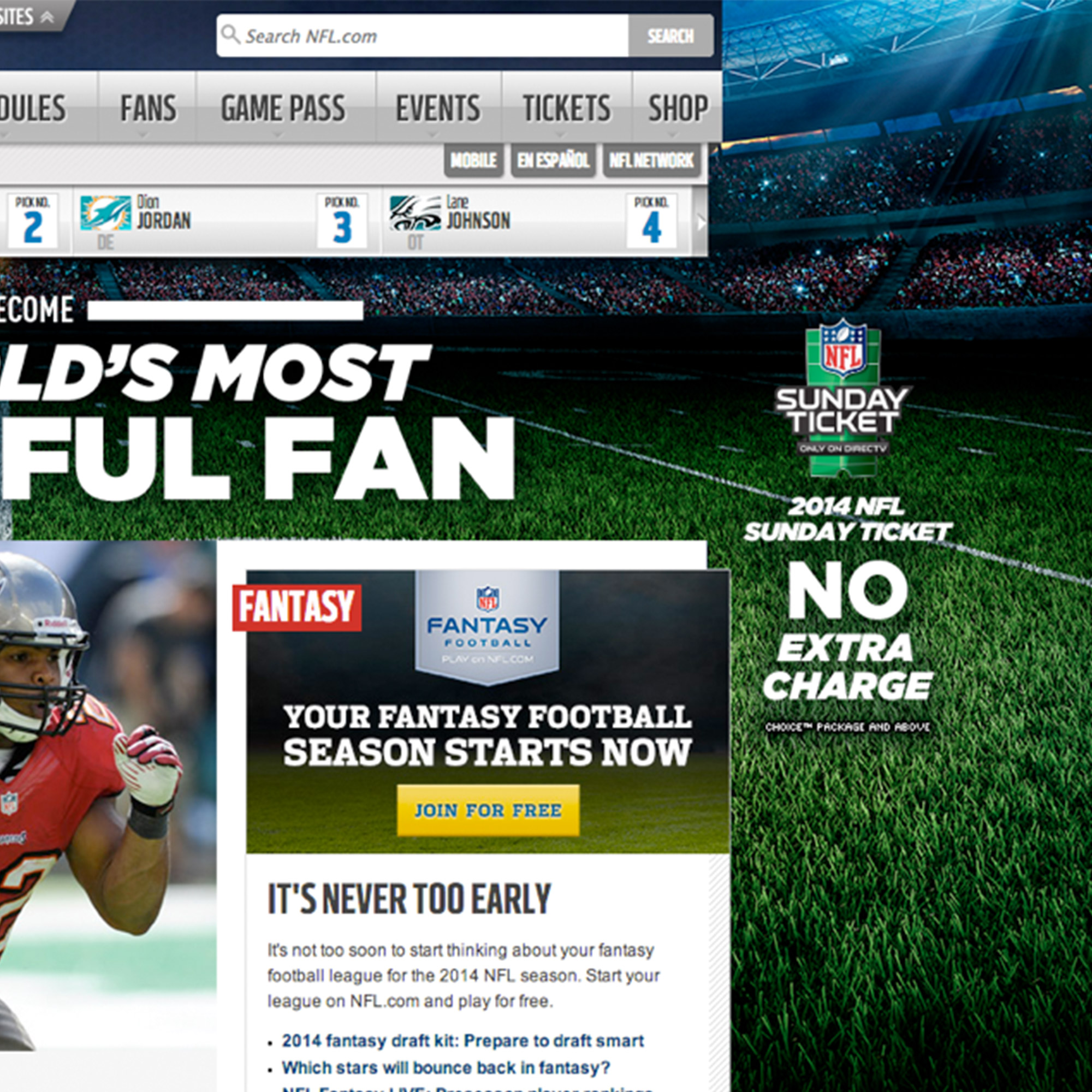 DIRECTV - NFL Sunday Ticket portfolio item 4